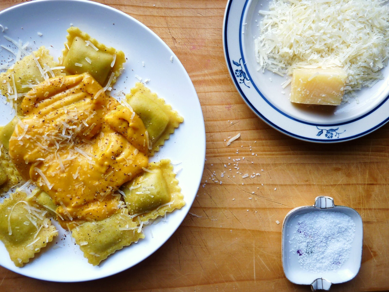 Agnolotti With Sage Walnut Cream Sauce Recipe — Dishmaps
