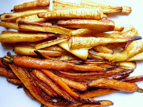 Baked Carrot and Parsnip Oven Fries