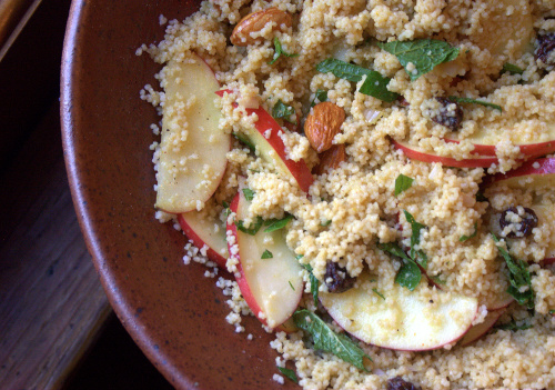 curry apple couscous