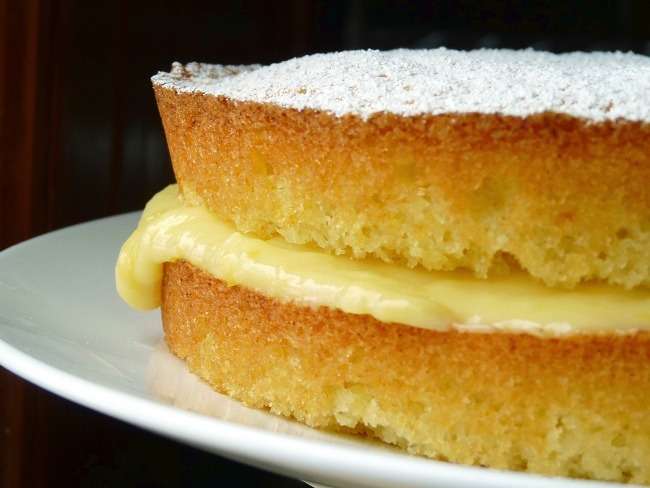 Lemon Curd Sponge Cake Recipe