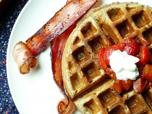Cardamom And Nutmeg Waffles With Minted Strawberries Recipes ...
