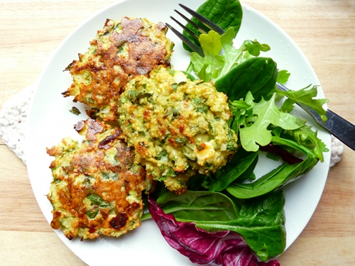, simple lunch idea with you guys: baked quinoa and millet patties ...