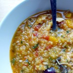 hearty stew with squash, quinoa and chicken