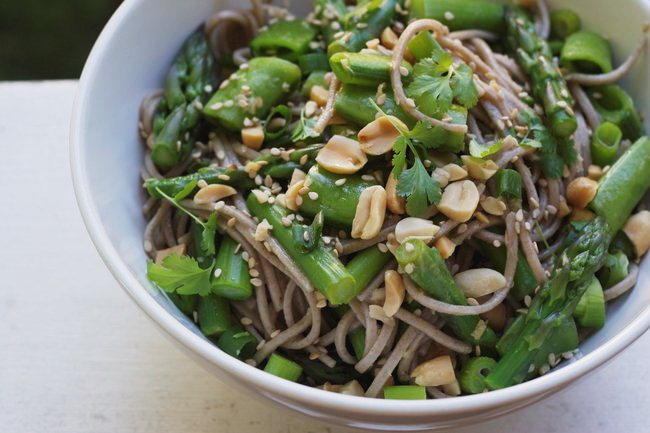 Buckwheat Soba Noodles with Sesame-Lime Dressing