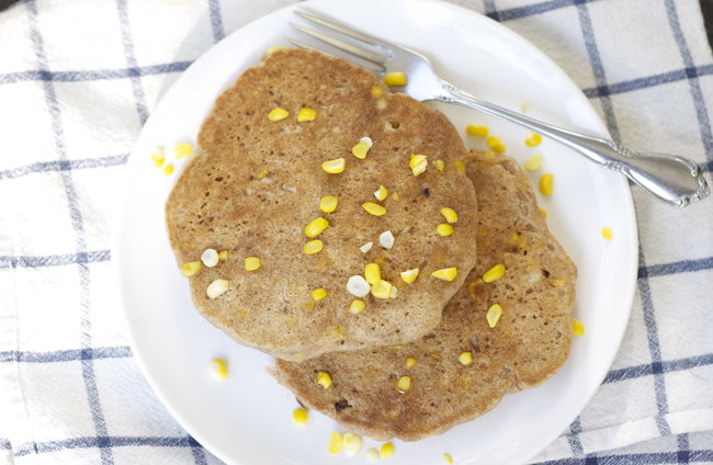 Sweetcorn Pancakes . . . And some exciting news