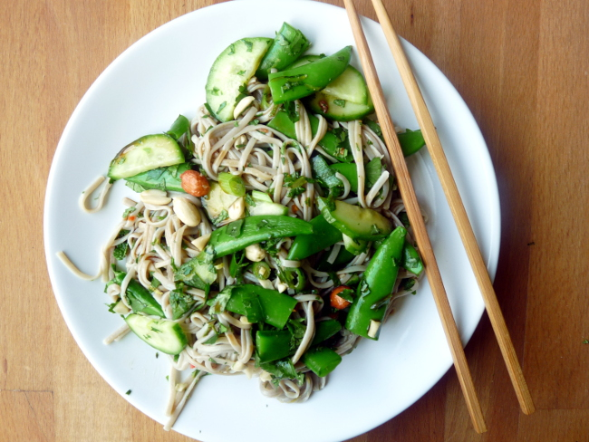 Herby, Peanutty, Noodly Salad